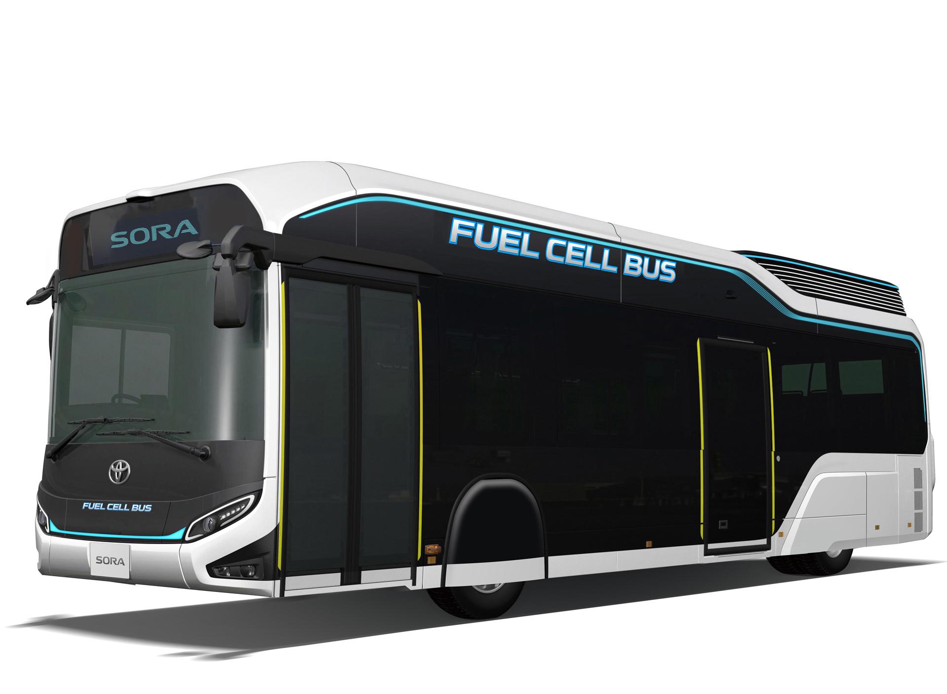 Toyota em Tóquio com autocarro a hidrogénio