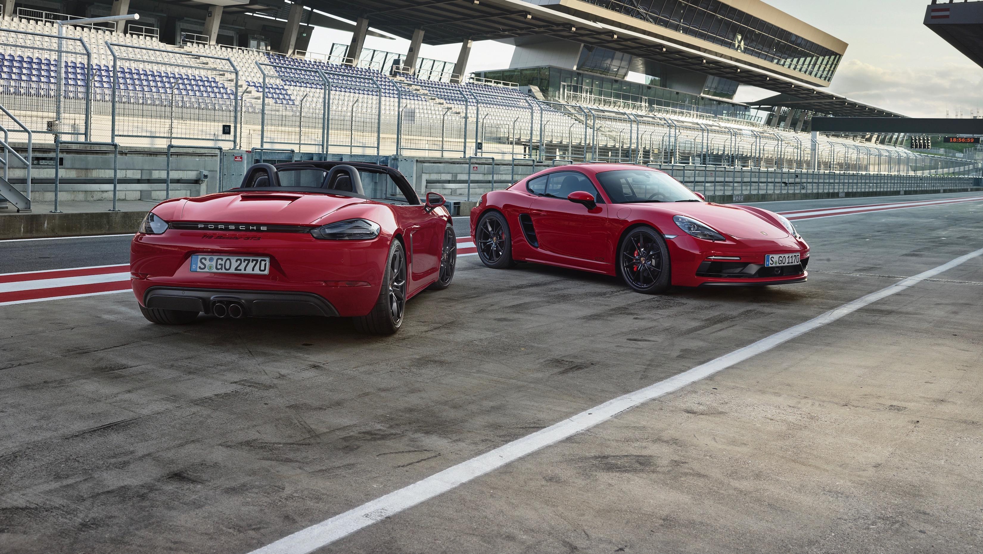 Novos modelos Porsche: 718 Boxster e Cayman GTS