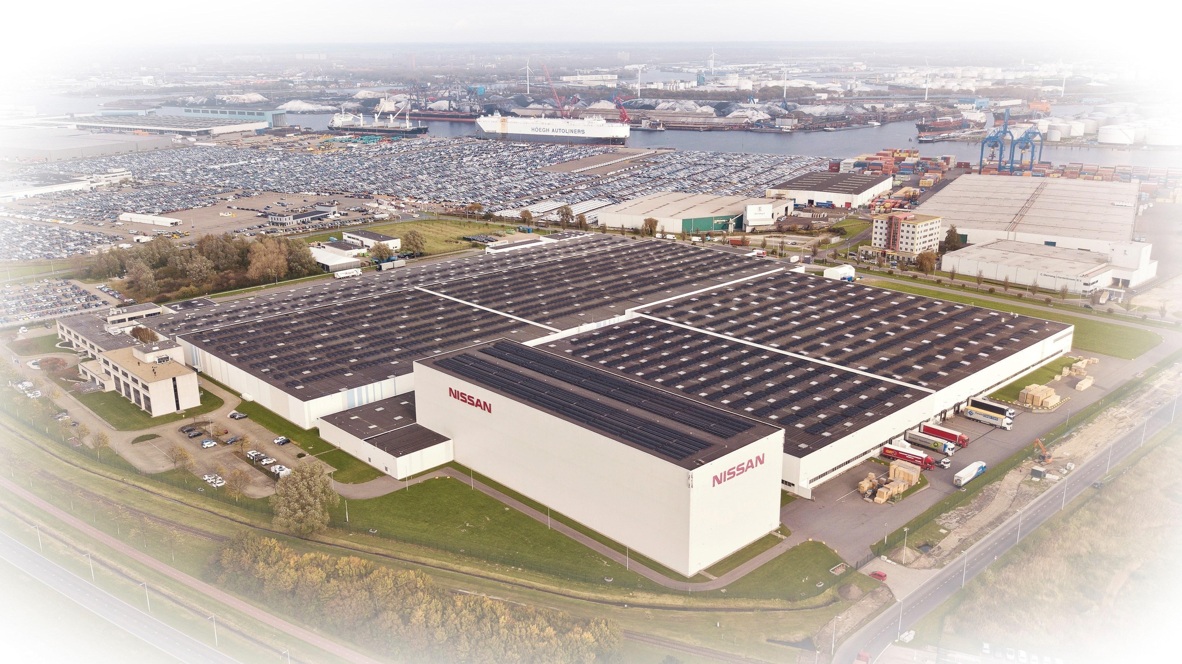 A Nissan constrói o maior telhado solar dos Países Baixos
