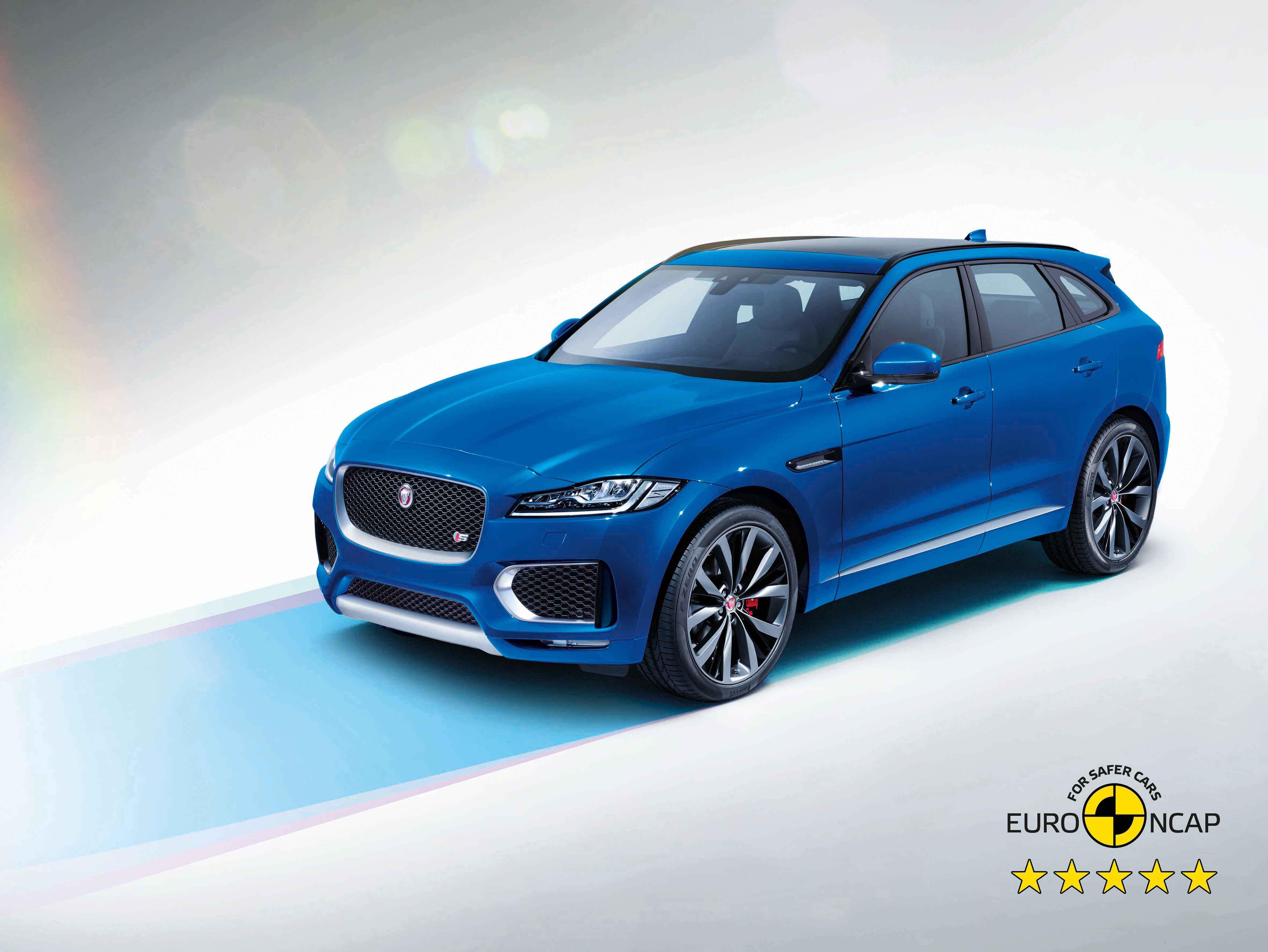 Jaguar F-Pace consegue 5 estrelas nos testes EURO NCAP