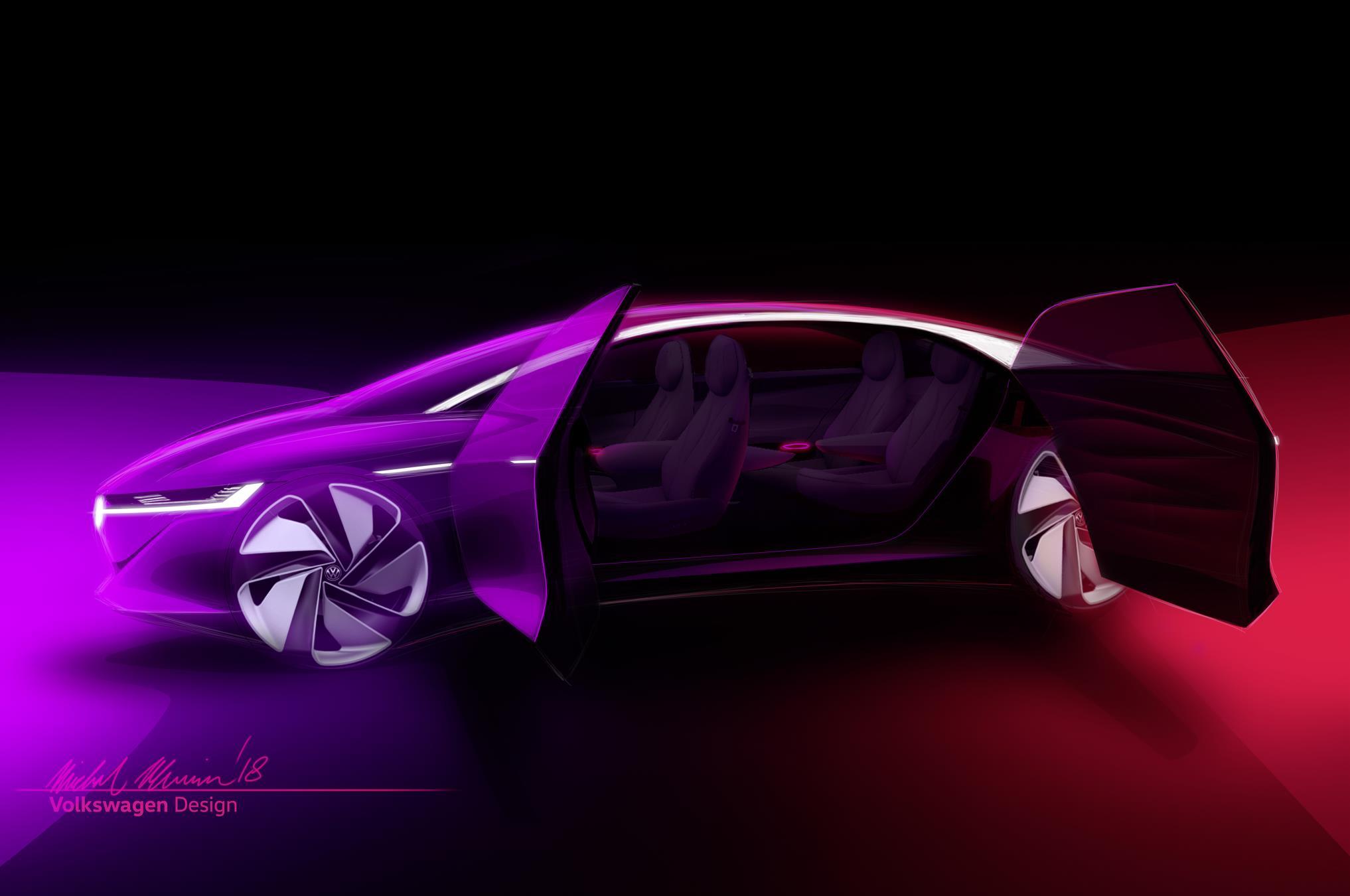 Volkswagen Vizzion realça potencial da futura gama I.D.