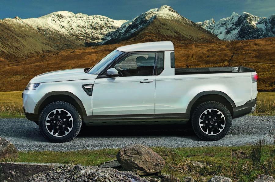 Land Rover Defender Pickup previsto para 2020