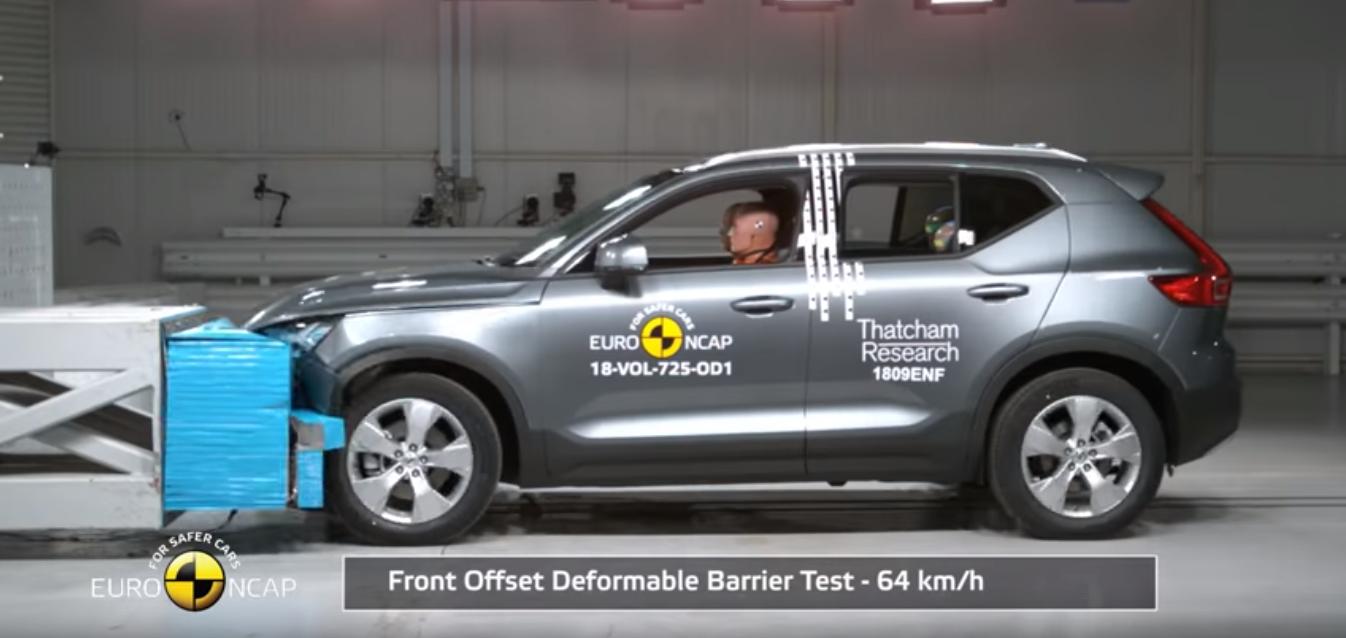 Volvo XC40 recebe 5 estrelas nos testes Euro NCAP