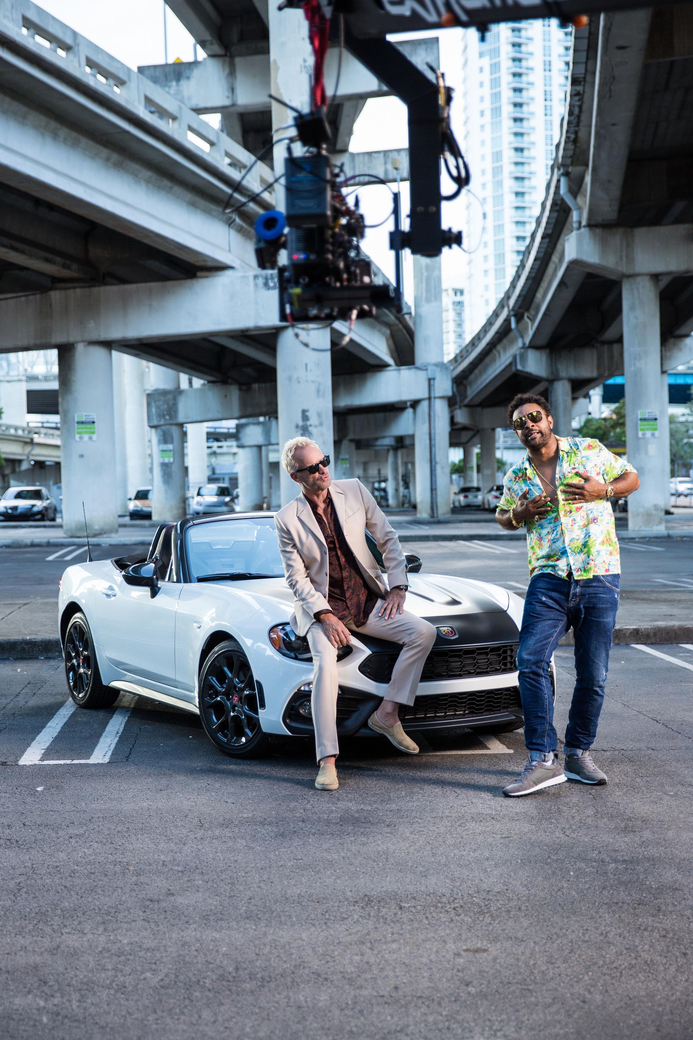 """Fiat 124 Abarth é vedeta no vídeo """"Gotta get back my Baby"""" de Sting e Shaggy"""