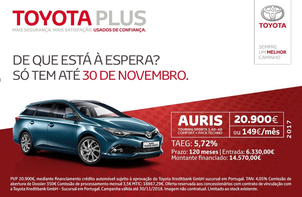 Toyota Caetano Portugal oferece Toyota Auris usados a partir de 149 euros/mês
