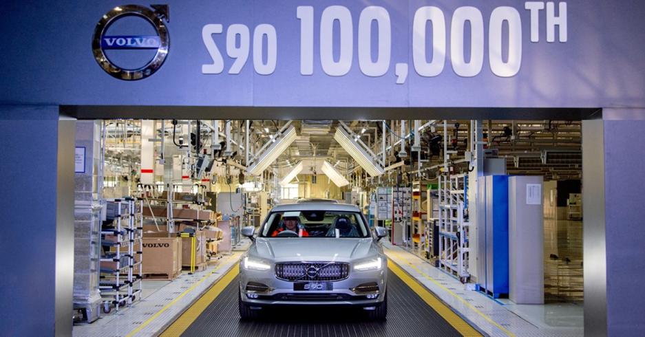 Volvo já produziu 100 mil unidades do S90