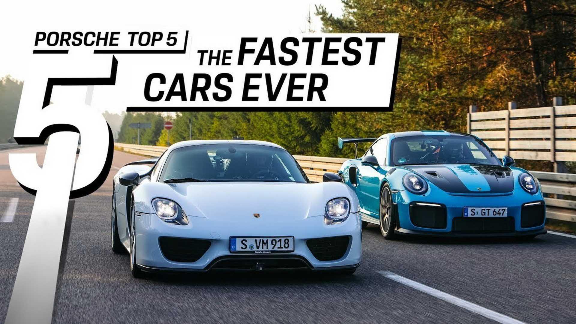 Conhece quais os cinco Porsche mais velozes de sempre? (c/vídeo)