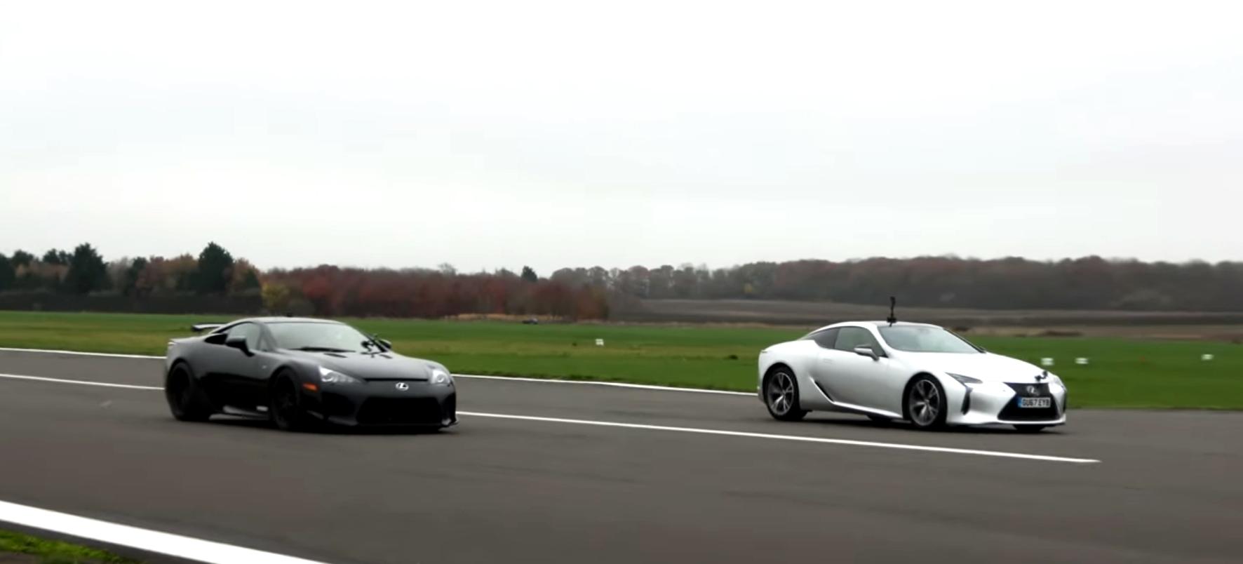 Qual é mais rápido: o Lexus LFA ou o LC500?