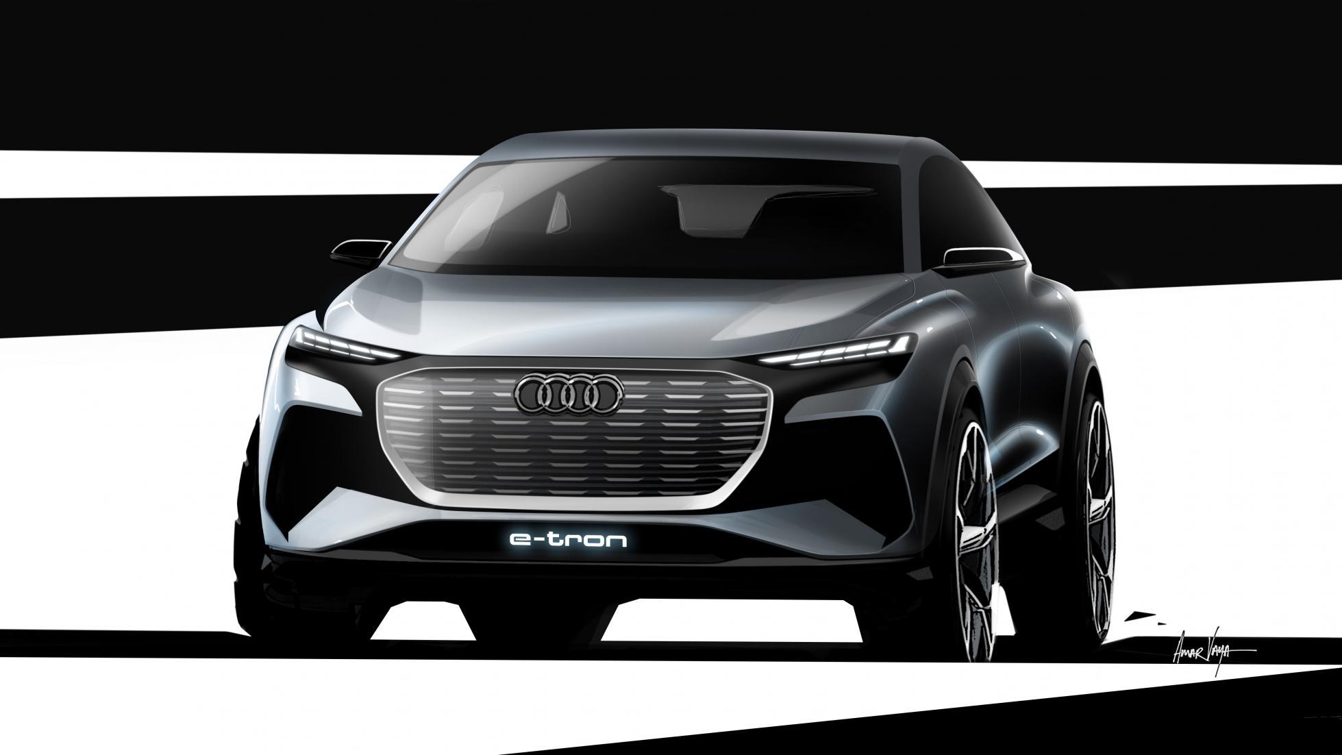 Audi revela Q4 e-tron que será produzido em 2021