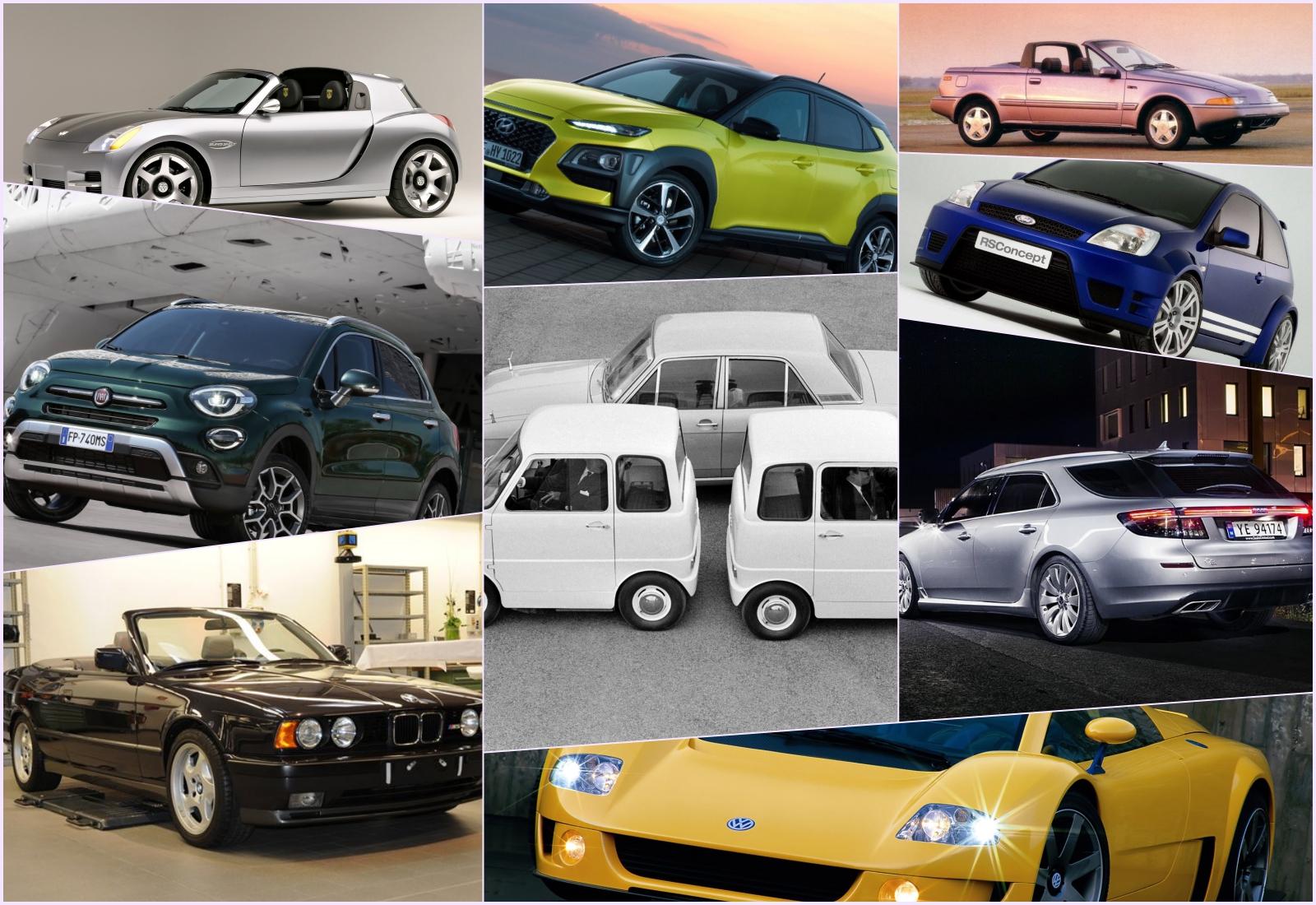 Automóveis que nunca chegaram à produção em série