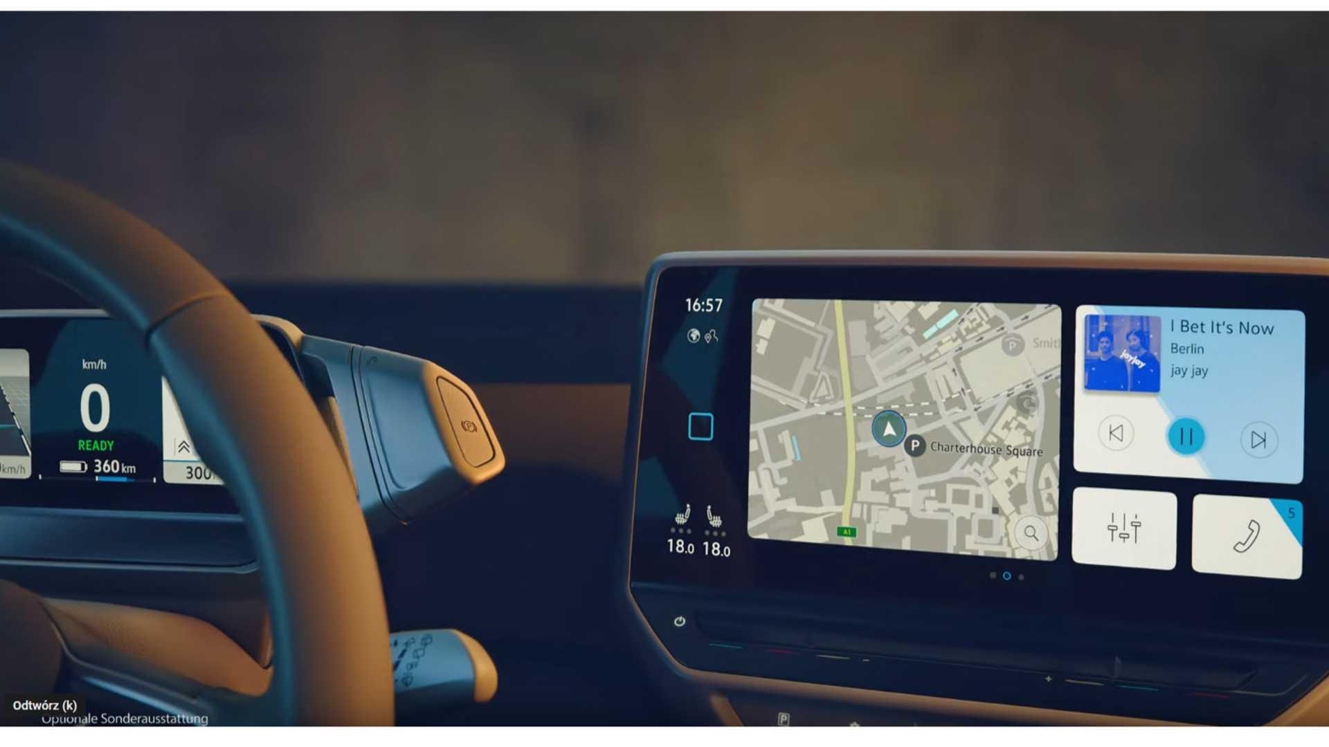 Interior do VW ID.3 parece ser muito interessante