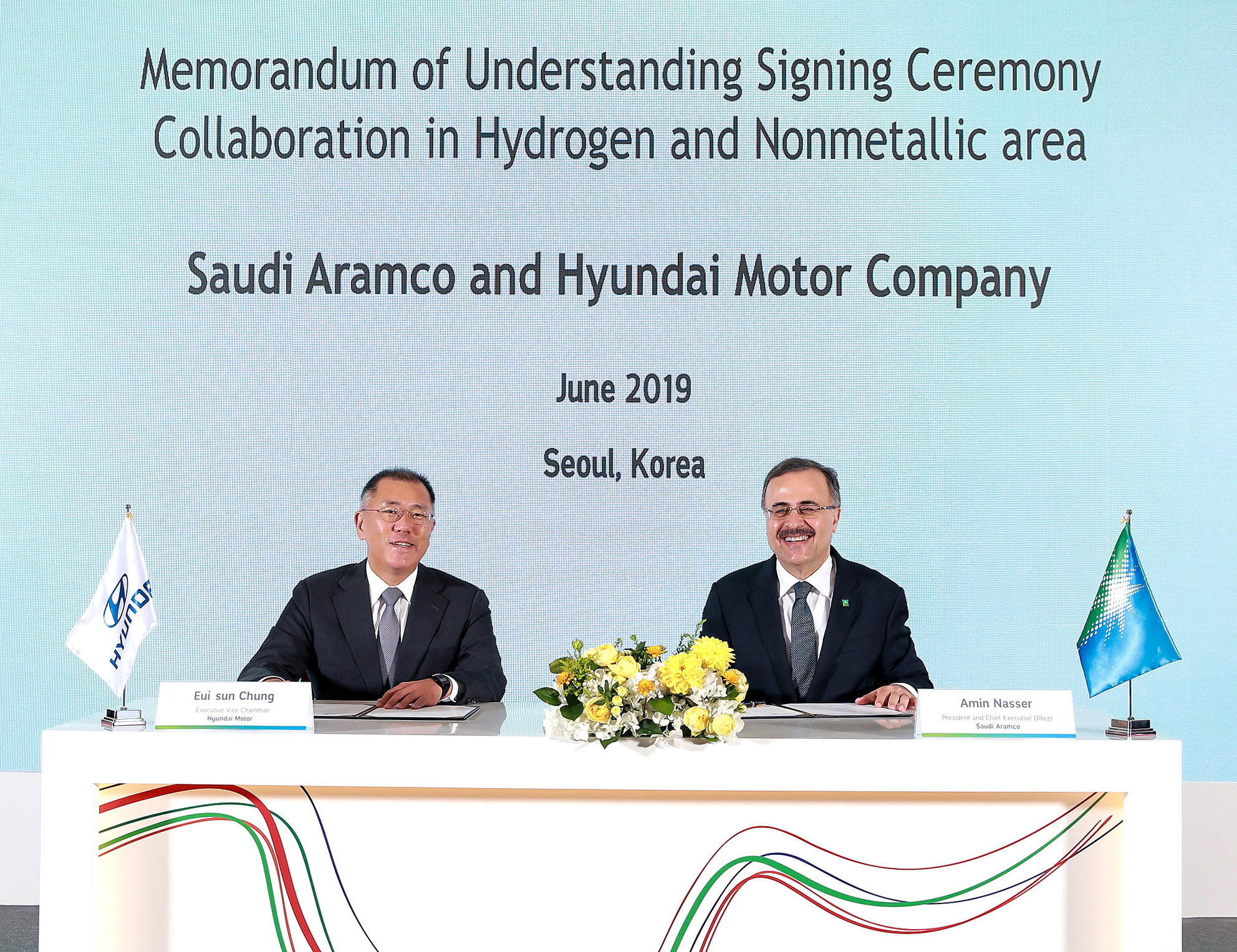 Hyundai e Saudi Aramco assinam protocolo de colaboração