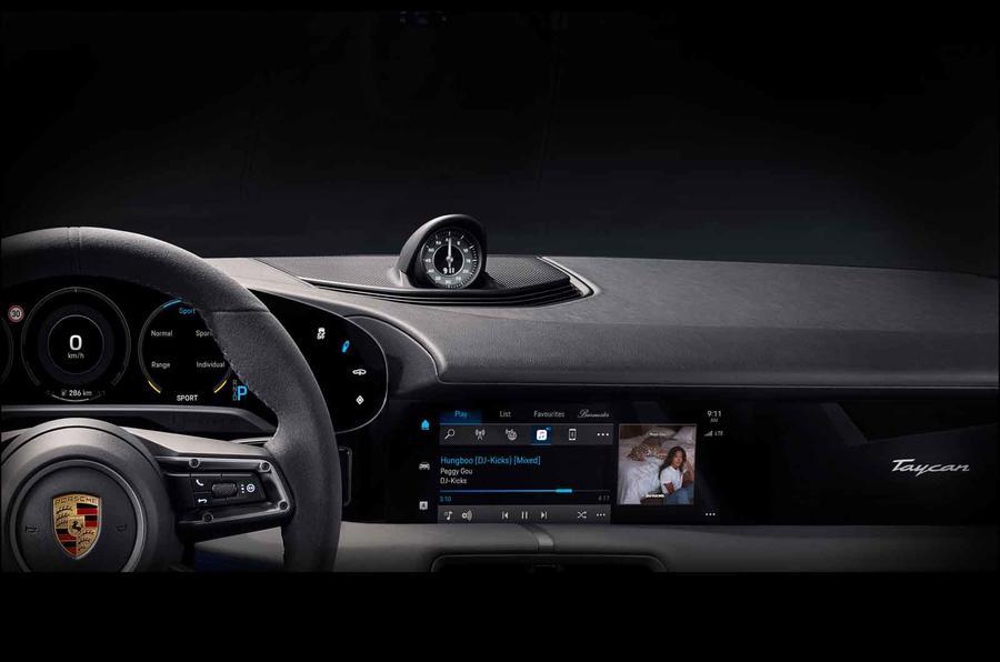 Porsche revela parte do interior do Taycan
