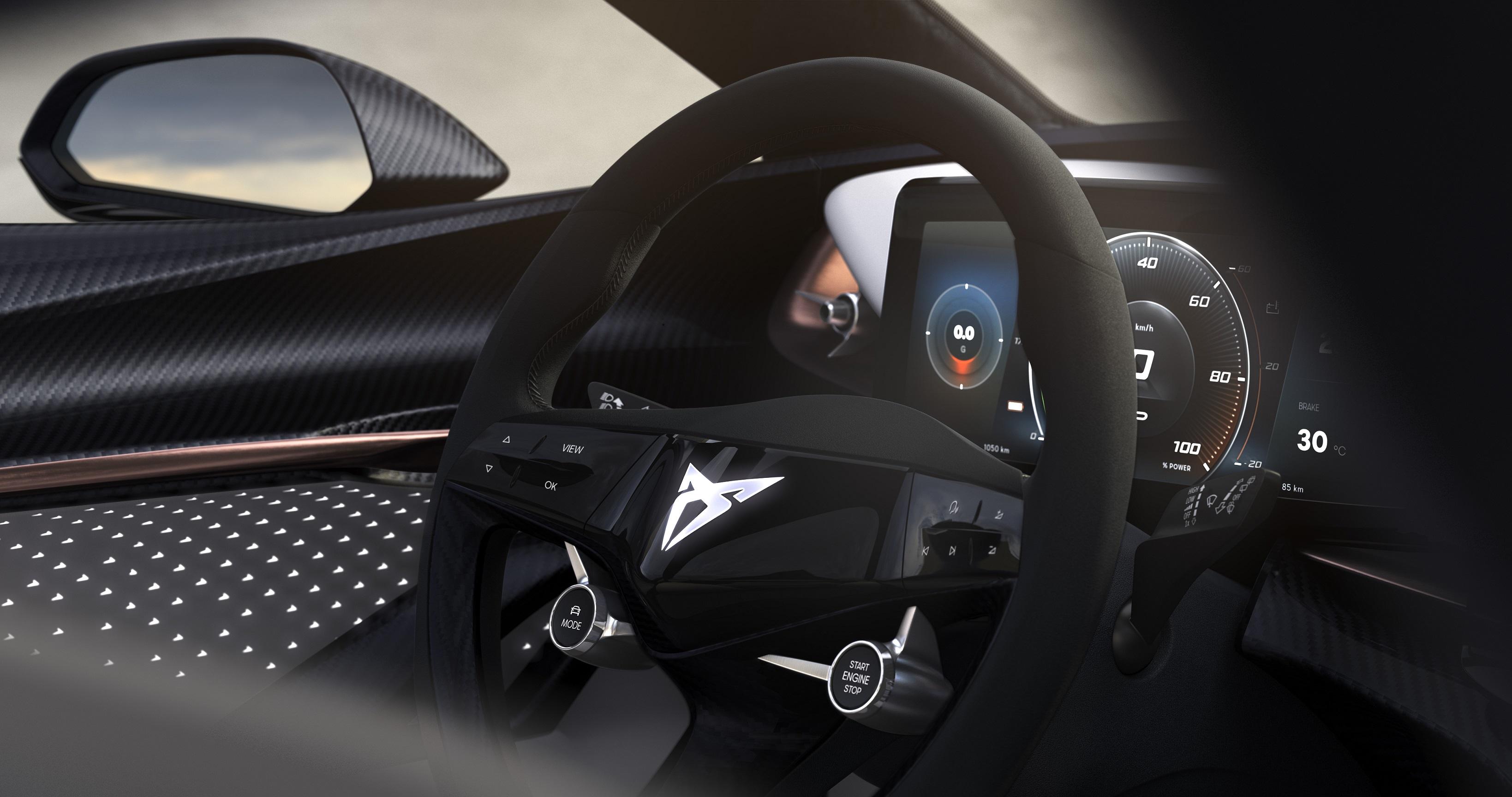 Cupra revela interior do protótipo que será revelado em Frankfurt