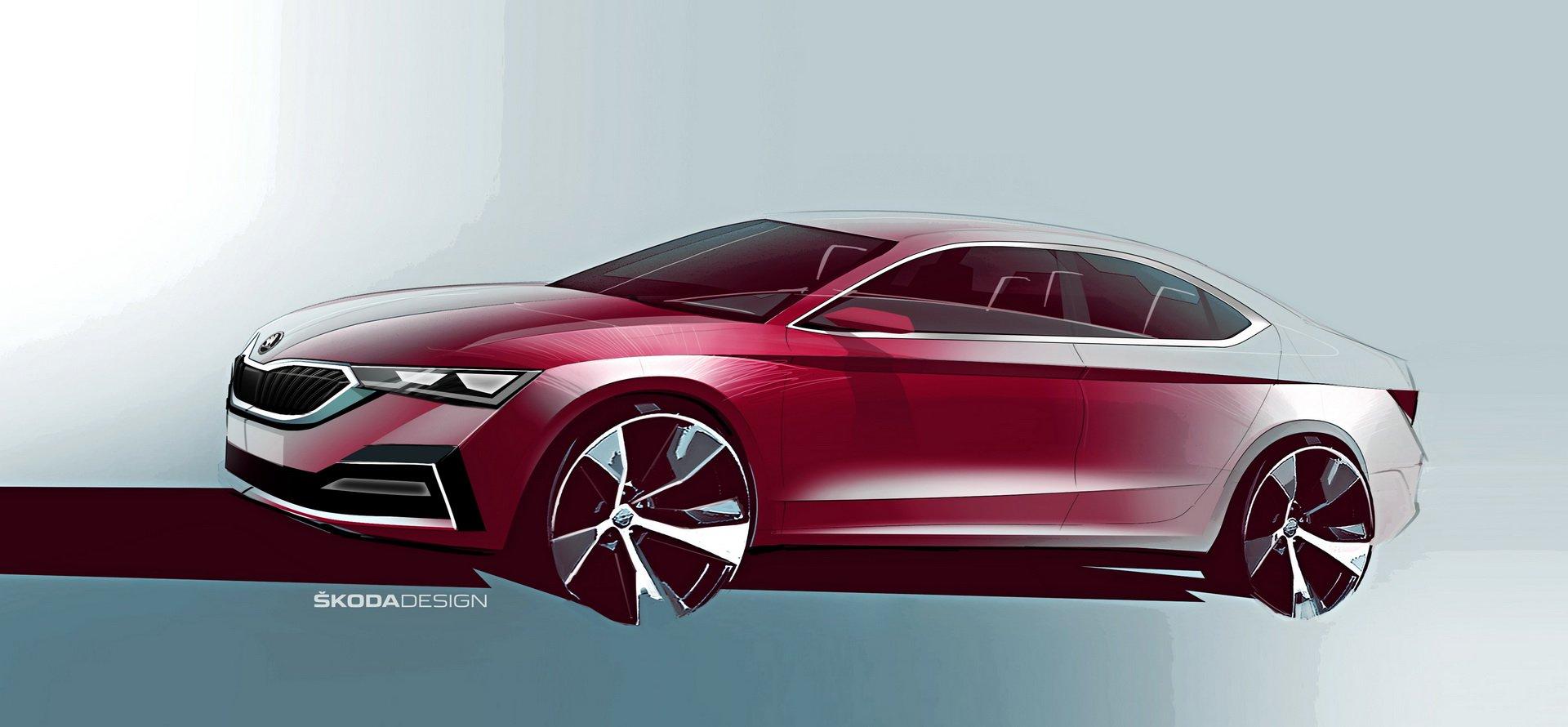 Novo Skoda Octavia vai chegar em 2020 e terá uma silhueta de coupé