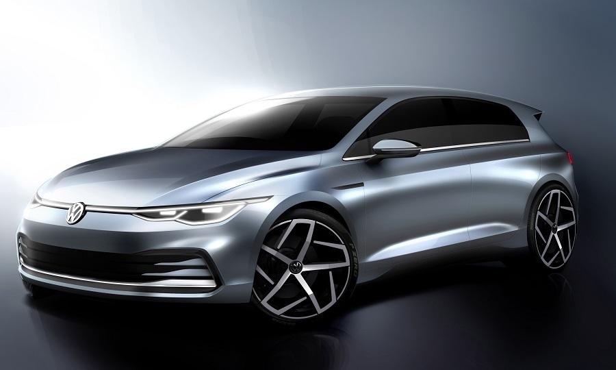 Volkswagen oferece primeiro vislumbre oficial do novo Golf