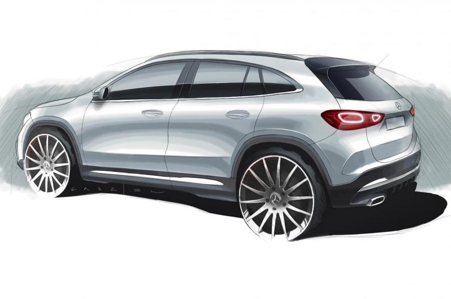 Mercedes revela desenho do GLA, novas fotos mostram que está pronto e será revelado amanhã
