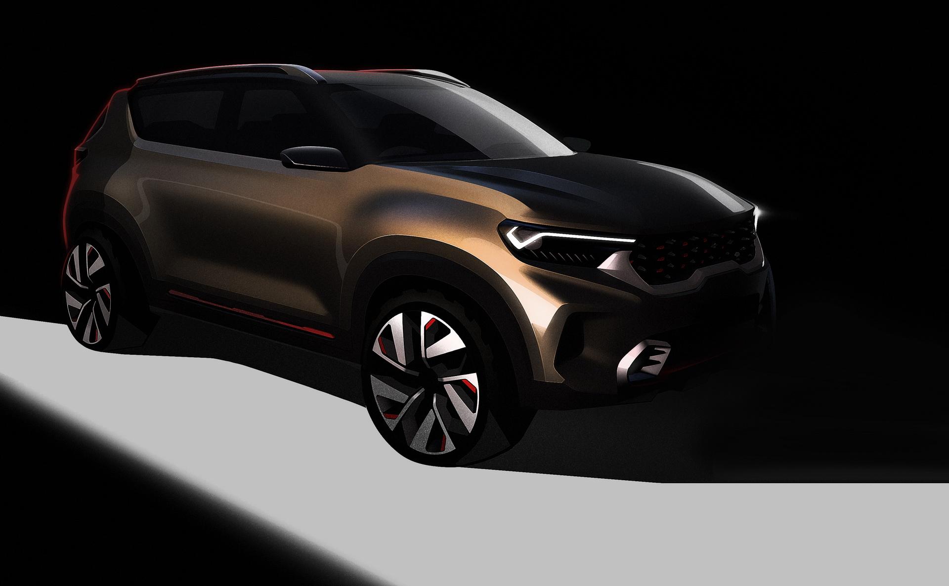 Kia vai revelar SUV compacto no salão automóvel da India